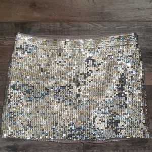 Abercrombie & Fitch gold & silver sequin skirt 6